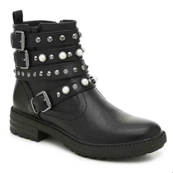 G by Guess Shoes - G by Guess black motorcycle boot in size 8.5.